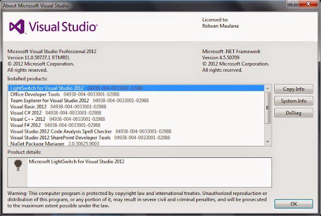 php tools for visual studio 2012 license key